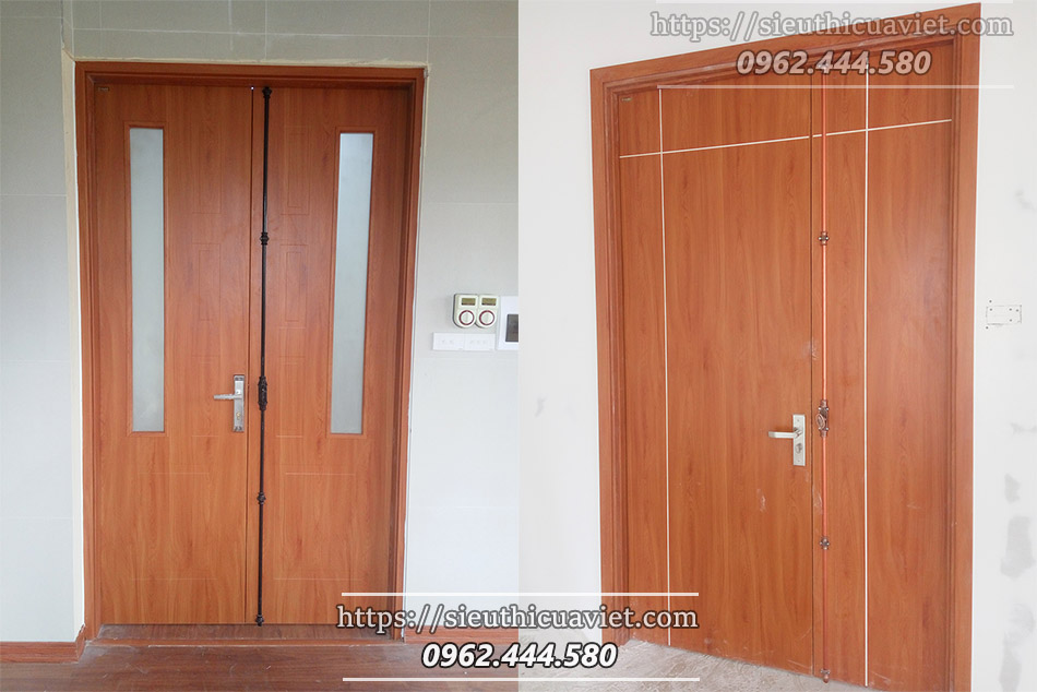 Cửa gỗ công nghiệp HUGE mẫu 2 cánh