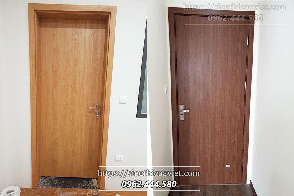 Cửa gỗ HUGE đảm bảo khả năng đồng bộ về hệ cửa bề mặt trong