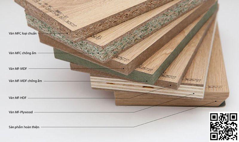 Các mẫu ván gỗ công nghiệp trong thực tế