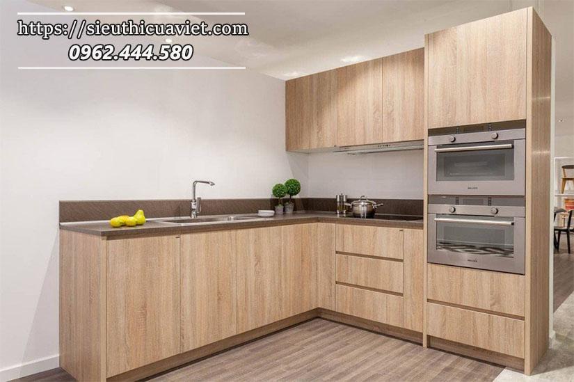 Gỗ MDF lõi xanh chịu ẩm được ứng dụng trong nội thất tủ bếp