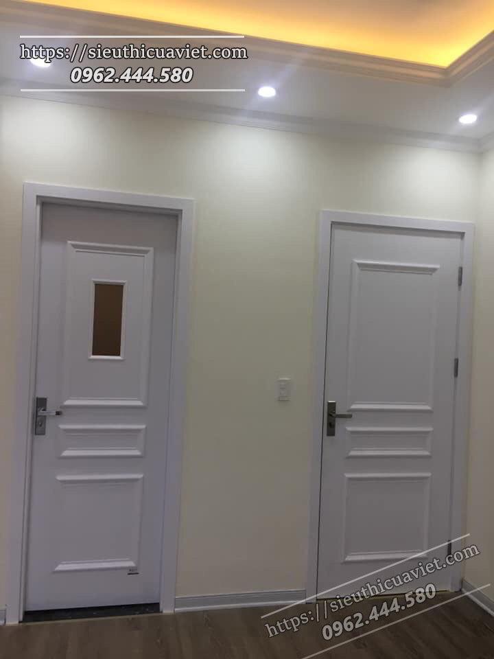 Mẫu cửa được lắp cho căn hộ 18xx tòa E3 - anh T