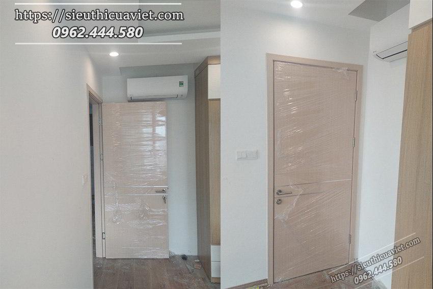 Mẫu cửa tông màu kem nhạt lắp đặt tại EMERALD CENTERPARK