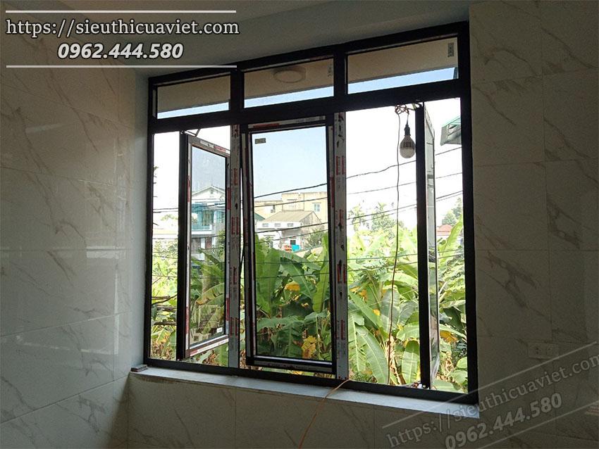 Cửa sổ nhôm Xingfa bề mặt sau tầng 2