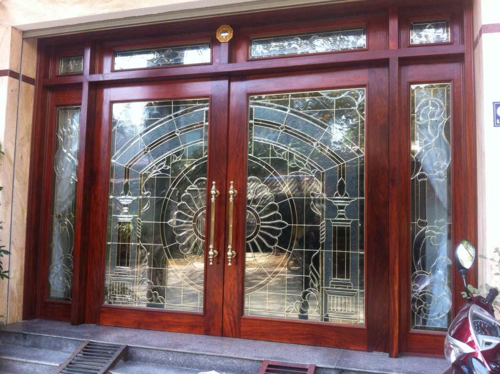 Mẫu cửa gỗ kính đẹp