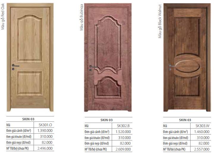 Báo giá cửa gỗ mdf phủ veneer truyền thống