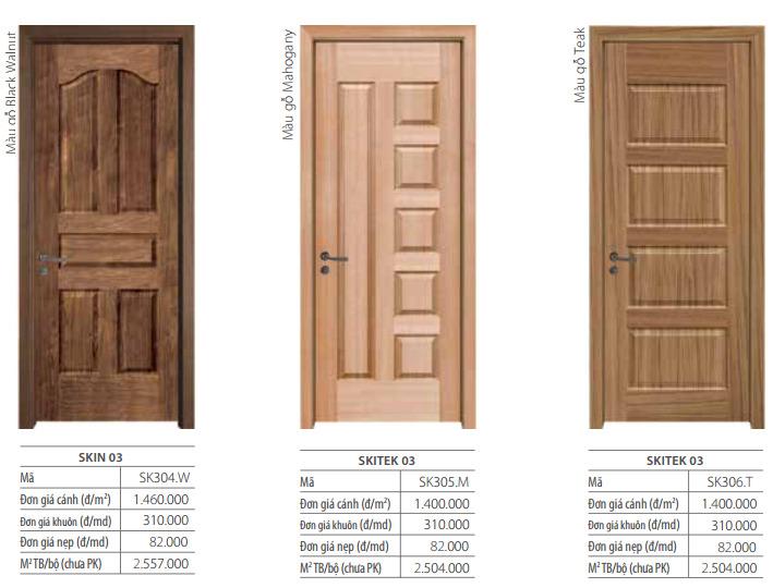 Mẫu cửa gỗ công nghiệp MDF lõi xanh bề mặt veneer