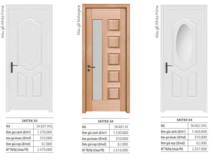 3 mẫu cửa gỗ veneer mới 2020