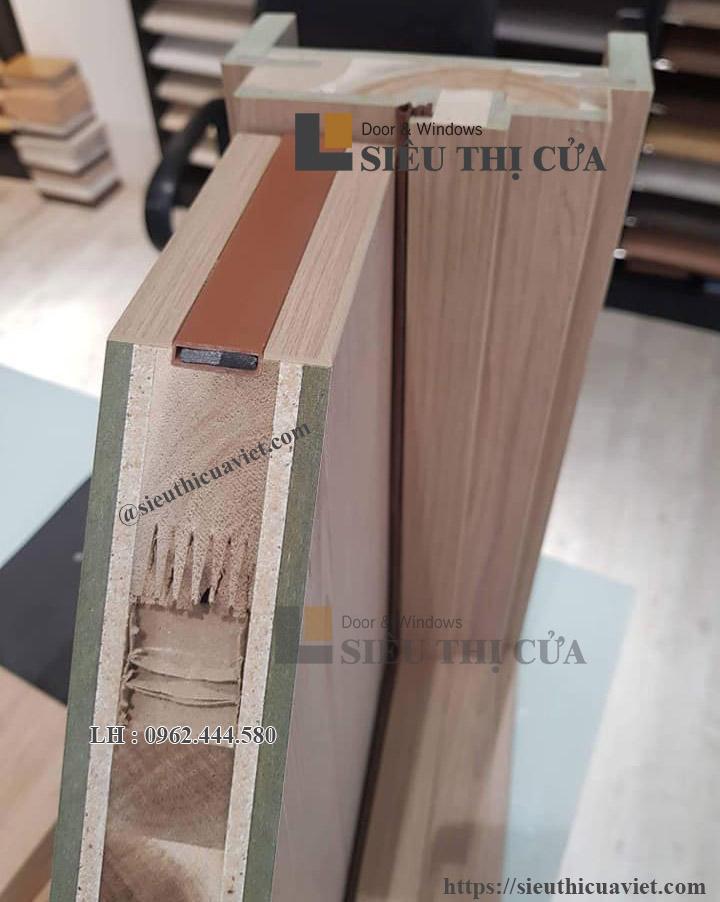 Mặt cắt cửa gỗ công nghiệp chống cháy austdoor trong thực tế