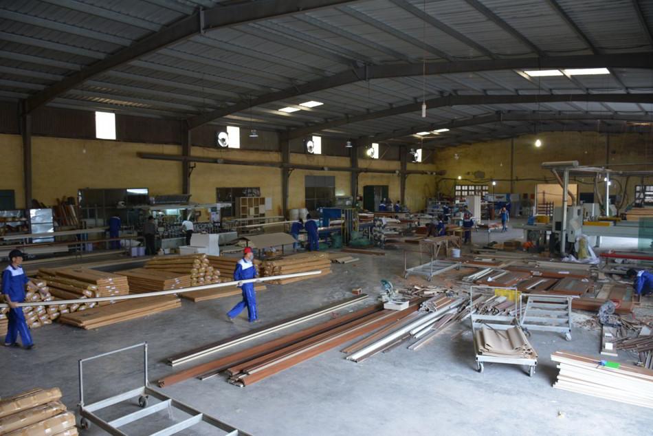 Nhà máy sản xuất cửa gỗ nhựa chịu nước của AUSTDOOR tại Hải Dương