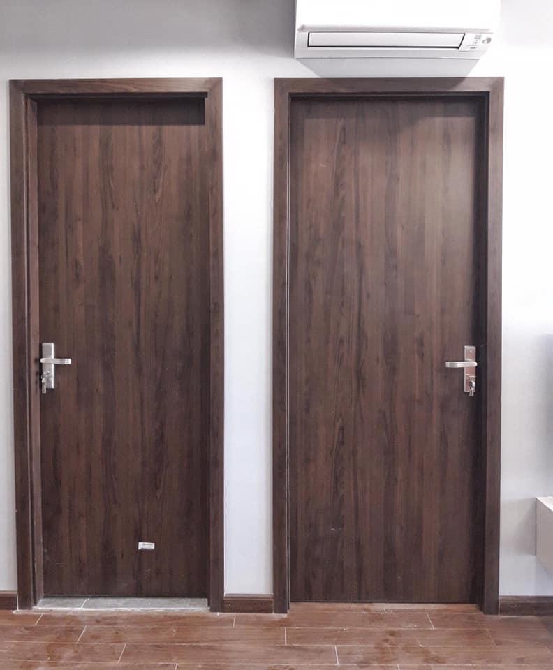 Mẫu cửa gỗ composite cánh phẳng phủ PVC