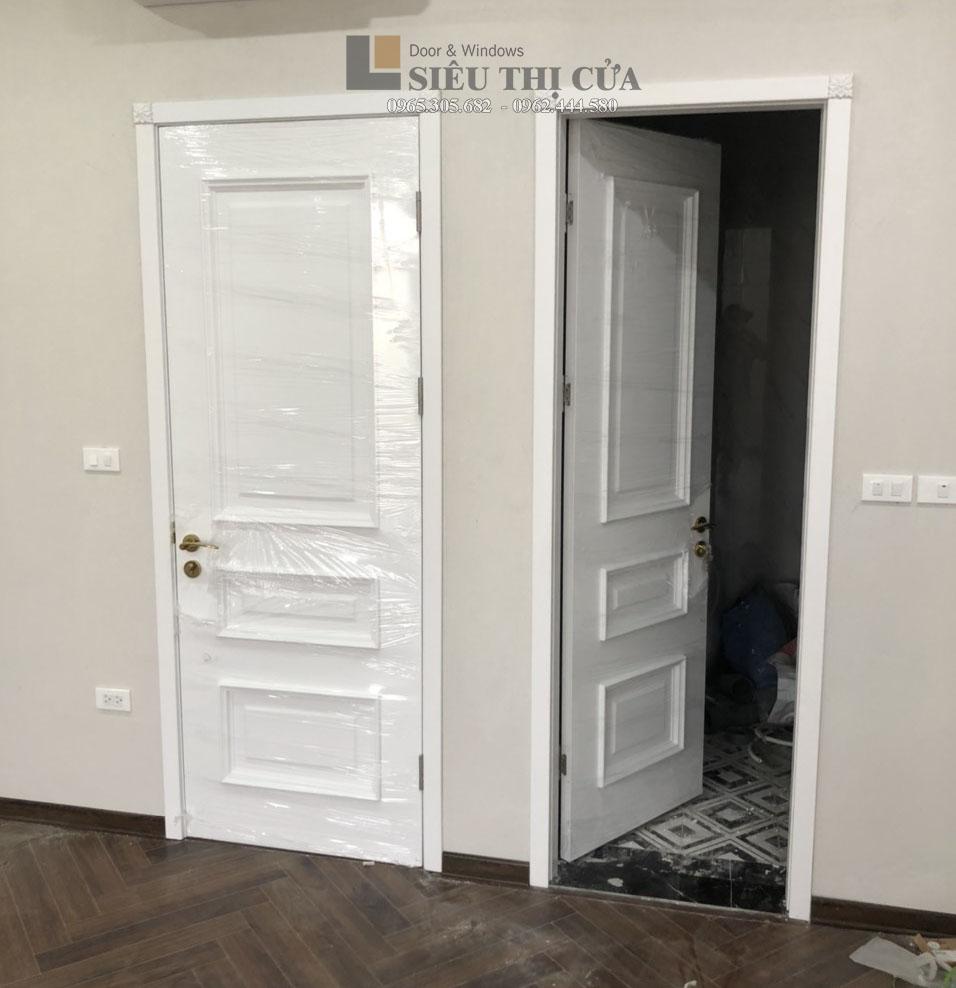 Mẫu cửa sơn trắng