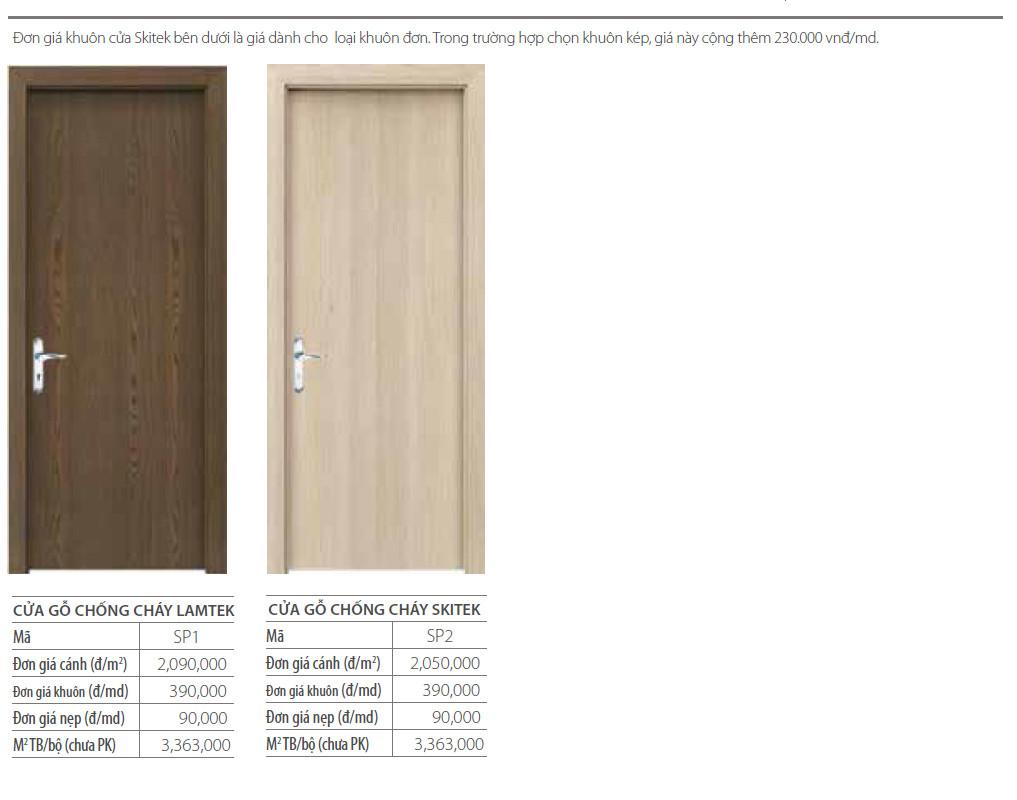 Báo giá cửa gỗ chống cháy AUSTDOOR