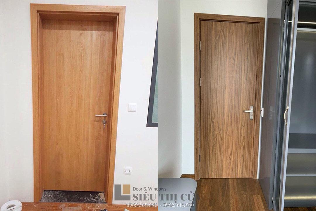 Mẫu cửa gỗ composite chịu nước cánh phẳng cơ bản