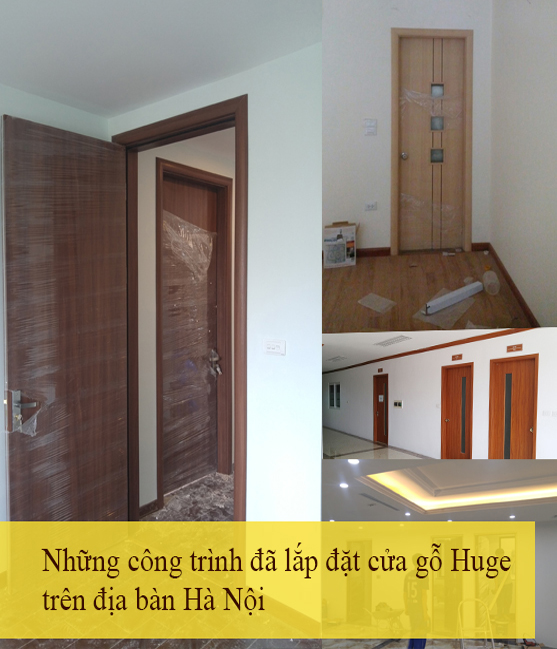 những công trình đã lắp cửa gỗ huge