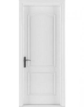 cửa gỗ tự nhiên đẹp sơn trắng