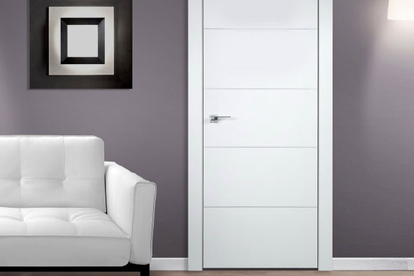 Mẫu cửa gỗ màu trắng đẹp