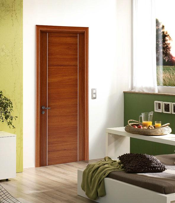 cửa gỗ trang trí nghệ thuật chỉ nhôm