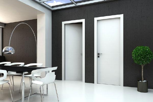 mẫu cửa gỗ trắng hiện đại