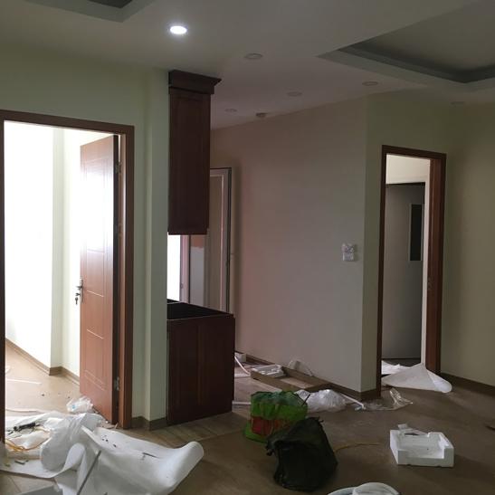 Cửa gỗ Huge đẹp lắp đặt tại tòa CT1A chung cư Nghĩa Đô