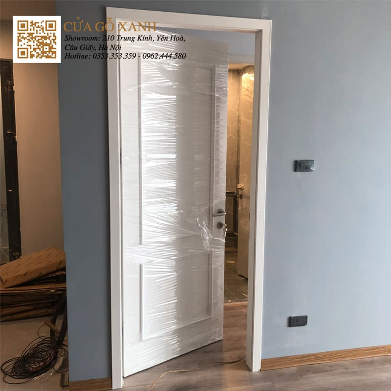 Cửa gỗ đẹp chung cư 2019