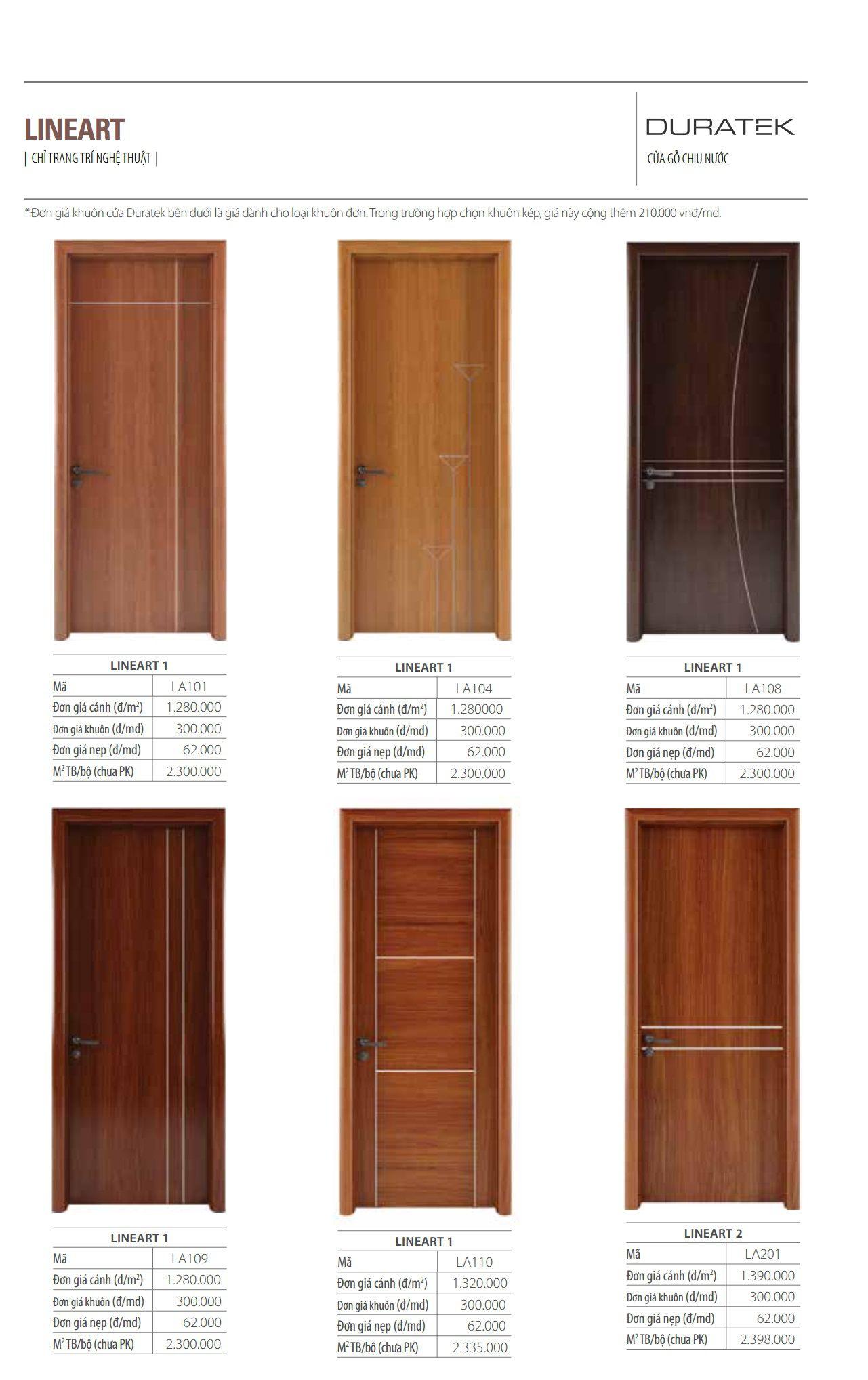 Cửa gỗ HUGE LINEART1