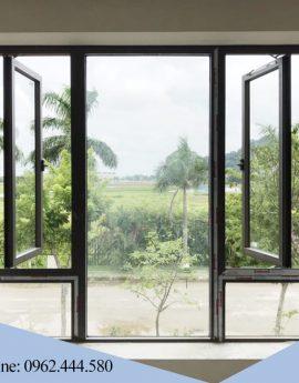 Cửa sổ mở quay 1 cánh nhôm xingfa
