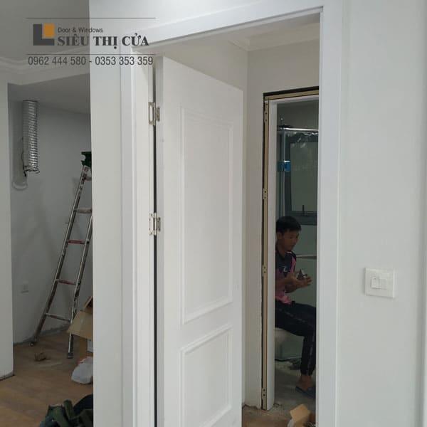 Cửa gỗ Composite trắng đẹp
