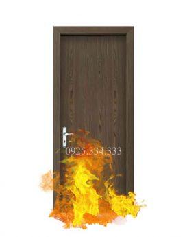 Cửa gỗ chống cháy mặt Laminate
