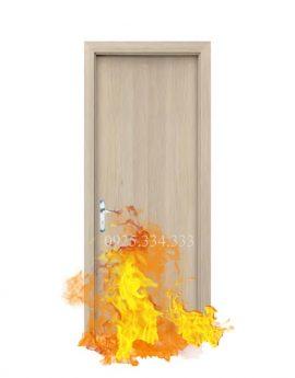 Cửa gỗ chống cháy phủ veneer