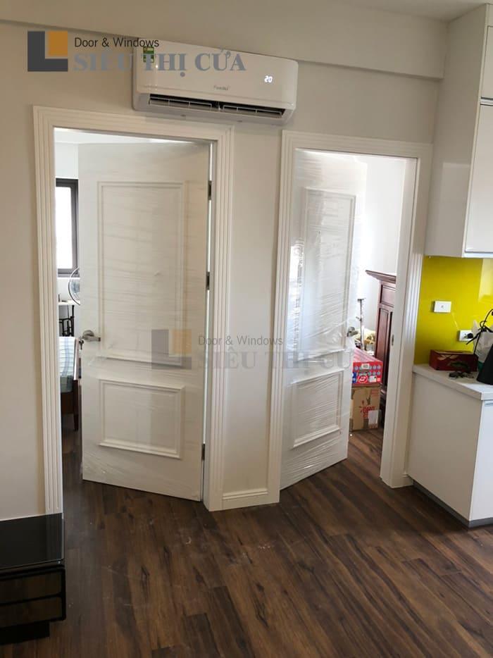 Mẫu cửa gỗ huỳnh sơn trắng