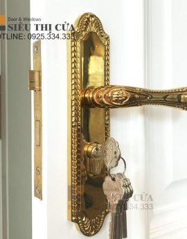 Khoá tay gạt bằng đồng