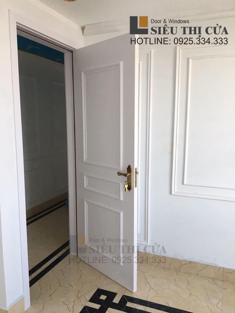 Mẫu khoá đẹp cho cửa gỗ trắng