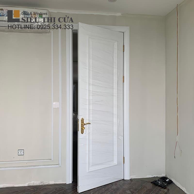Mẫu cửa gỗ tân cổ điển đeopj