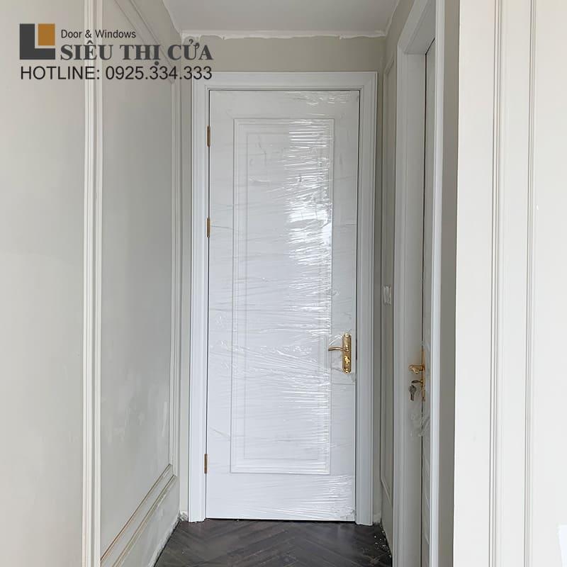 Mẫu cửa gỗ sơn trắng đẹp